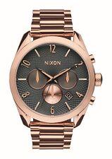 Nixon hombres Bullet A3662046 oro Rosa acero inoxidable cuarzo reloj