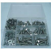 130 Teile Sechskant Gewinde Schrauben Sortiment Box Edelstahl DIN 933 VA