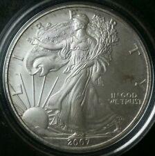 2007 W Burnished $1 American Silver Eagle Dollar