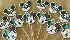 12 Halloween Mickey Minnie Mouse Gothic Cupcake Toppers Cake Birthday Party