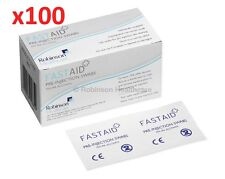100  FastAid IPA 70% Isopropyl Alcohol Wipes Swabs Cleans Hearing Aids CPU