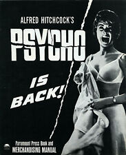 Alfred Hitchcock PSYCHO • 1966 Rerelease • Folded, Uncut • A. Perkins, J. Leigh