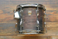 """1990 LUDWIG 10"""" CLASSIC TOM in CHARCOAL SHADOW 10X9 for YOUR DRUM SET! #Z574"""
