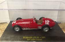 "DIE CAST "" FERRARI 375 F1 - 1951 JOSE FROILAN GONZALES "" SCALA 1/43  FERRARI F1"