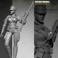 1/35 Model Resin Figure Modern Female soldier Unpainted Gift DIY New N7F8
