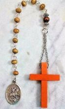 Boy Scout Pocket Prayer Bead Wooden Cross Hand made-Praying-Religious