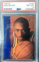 1996 SP Basketball Kobe Bryant ROOKIE RC #134 PSA 8 NM-MT