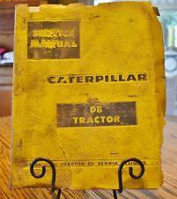 VINTAGE CATERPILLAR D8 TRACTOR SERVICE MANUAL 1958