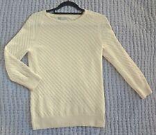 H & M 100% cashmere cream sweater size S-M