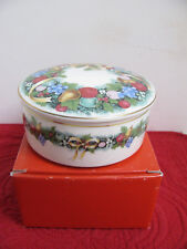 Mikasa Small Covered Dish - Candy Dish - Christmas Bouquet - NEW
