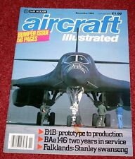 Aircraft Illustrated 1985 November Martin Baker,Falklands,B-1B,BAe146