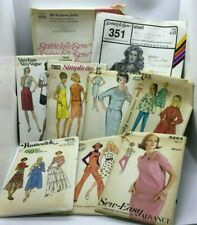 Lot Clothing Patterns Simplicity Advance Butterick Stretch Sew Vintage Assorted