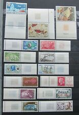 781-20  15 MNH French Commemoratives Stamps with Margins