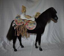 American Girl Doll Horse Kaya's Appaloosa Mare Steps High & Saddle EUC