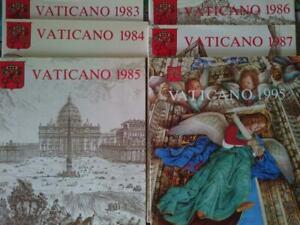 6 libri emissioni filateliche francobolli vaticano 1983,1984,1985,1986,1987,1995