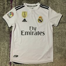 2018 Adidas Real Madrid Sergio Ramos Soccer Football Jersey Kit Youth Large 14