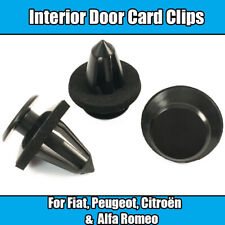10x Interior Door Card Panel Trim Clips For Peugeot Bipper Van Black Plastic
