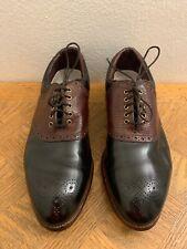 Vtg Footjoy Classics Usa Black Leather Saddle Golf Shoes 51942 Men's Sz 9.5 D