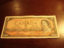 1954 - Canada two dollar bill - $2 Canadian note - EG7447101