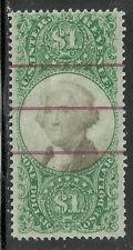 U.S. Revenue stamp scott r144 - $1 Washington issue of 1872 -  3rd issue - #16