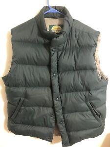Men's Cabela's Premier Northern Goose Down Vest Green Size Large Regular
