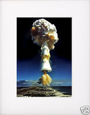 Atomic Bomb Nuclear Test  Mushroom Cloud World War 2 WWII  Matted Photo Picture