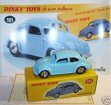 ATLAS DINKY TOYS VW VOLKSWAGEN KAFER COX COCCINELLE BLEU REF 181 IN BOX