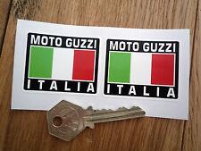 MOTO GUZZI ITALIA Tricolore Style Stickers 50mm Pair Motorcycle Helmet LeMans