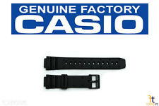 CASIO W-95 Original 14mm Black Rubber Watch BAND Strap TGW-10 AE-30W TRW-10