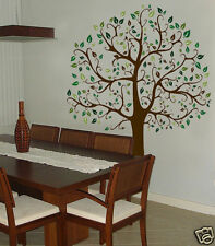 Wall Decal  6 FT. BIG TREE Brown and Green Deco Art Sticker Mural
