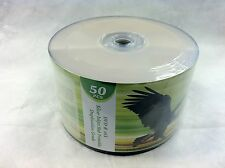 200 ct DVD-R 16X Silver Inkjet HUB Printable Disc Media FREE Expedited Shipping
