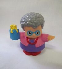 Fisher Price Little People JEWISH HANUKKAH GRANDMA WOMAN BLUE GIFT for HOLIDAY