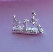 Seesaw Childrens Playground Toy Moves Moving Charm Pendant STERLING SILVER
