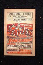 Beatles Tour Poster 1962 Odeon #1