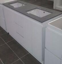 Bathroom Vanity in Grey stone 1700 mm [floor mount double basin]