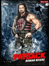 WWE TOPPS SLAM DIGITAL ROMAN REIGNS BLUE PAYBACK PPV DIGITAL CARD (943cc)