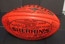 Geelong - 2011 AFL Premiership Team signed Red Sherrin Football - Kangaroo Brand