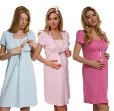 2 in 1 Maternity & nursing 100% cotton nightdress nightshirt breastfeeding 7001