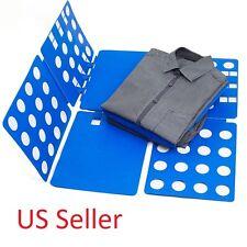 Clothes T Shirt Top Folder Magic Folding Board Flip Fold Laundry Organizer US