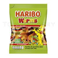 HARIBO WORMS German Fruit Flavor Gummy Candy 150g 6.3oz