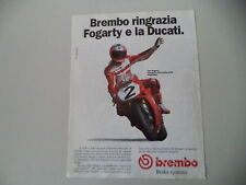 advertising Pubblicità 1994 BREMBO e CARL FOGARTY e DUCATI SUPERBIKE