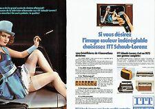 Publicité Advertising 037  1975  ITT Schaub-Lorenz (2p) magnétoscope l'ange Bleu