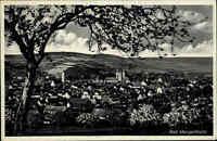 Bad Mergentheim Baden Württemberg s/w Ansichtskarte 1938 gelaufen Gesamtansicht