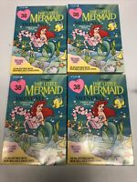 Vintage CLEO Disney's The Little Mermaid Valentine Cards Set Of 38 Lot Of 4 NEW!