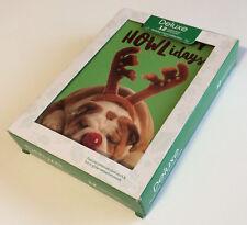 """Happy Howlidays"" Funny Holiday Christmas Cards 12 Boxed Set - New"