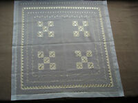 #734  Beautiful Vintage Hand Embroidered Tablecloth  60cm/59cm(23.5''/23'')