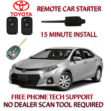 2014 2015 2016 TOYOTA COROLLA REMOTE START-NO WIRE SPLICING- REGULAR KEY ONLY