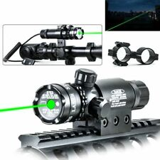 Green Dot Laser Sight Rifle Gun Mount Scope Rail & Remote Switch For Hunting