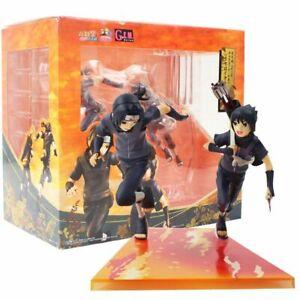 Young Sasuke & Itachi Uchiha Anime Figurines Set 2Pcs Action Figure Toy Models