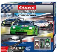 Carrera Digital 132 GT Triple Power Slot Car Racing Race Set 30007 NEW